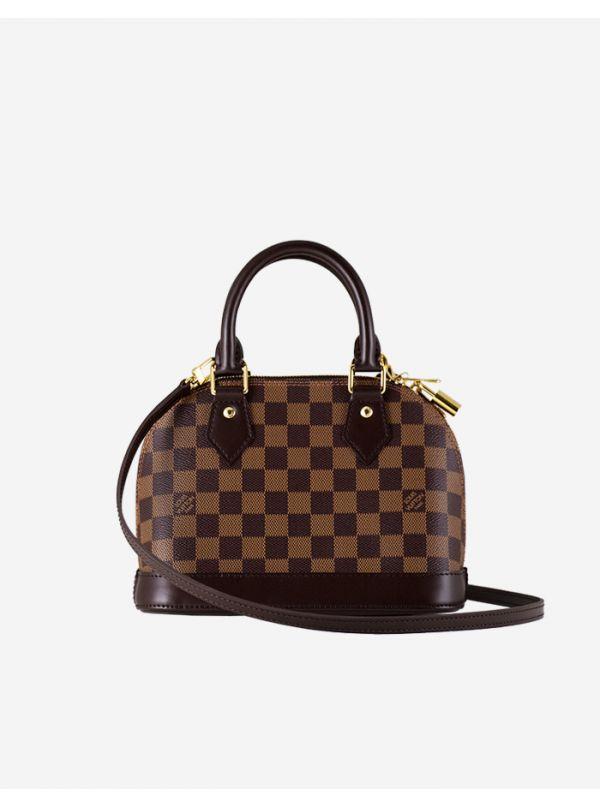 Rent | Louis Vuitton | Alma bb damier ebene canvas w/ gold