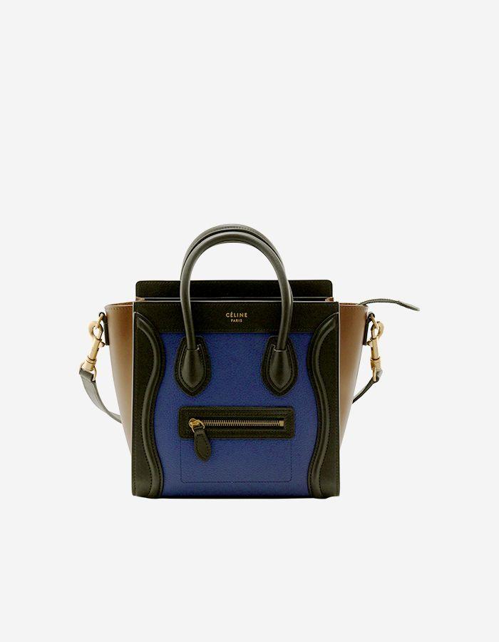 40089d583f8 Celine Nano Luggage Handbag in Multicolor Baby Grained Calfskin ...