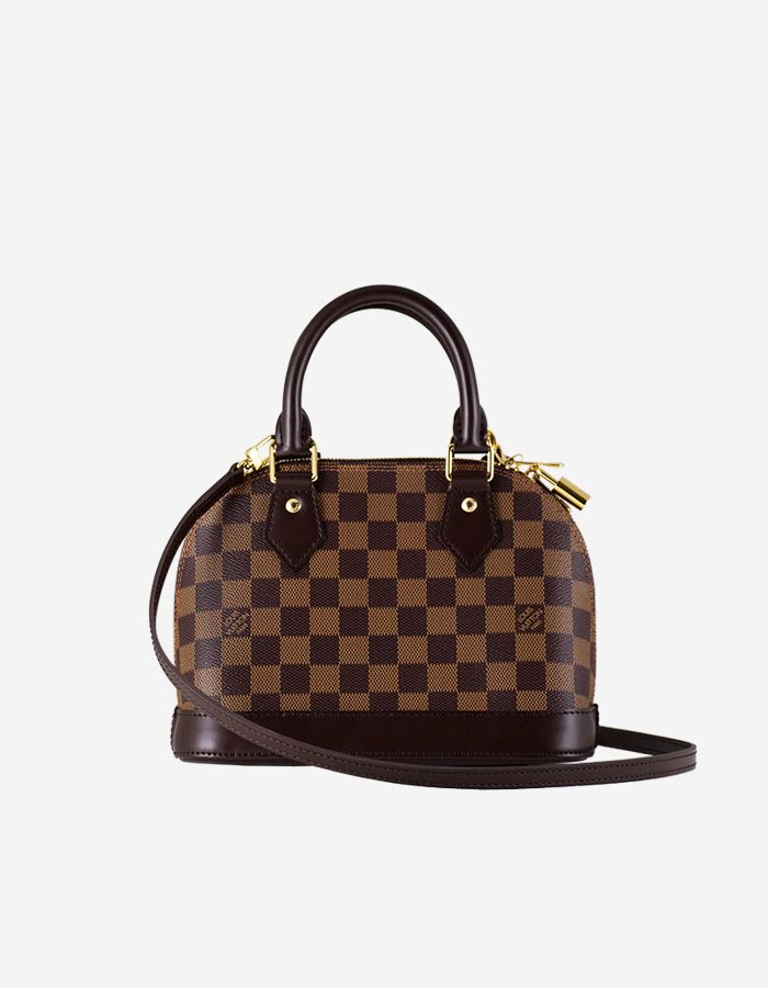 a26af60b3a3e Rent Louis Vuitton Alma BB Damier Ebene Canvas w  Gold