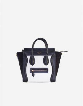 930d614c1143 Rent Celine Micro Luggage Handbag in Midnight Navy Blue Bullhide ...